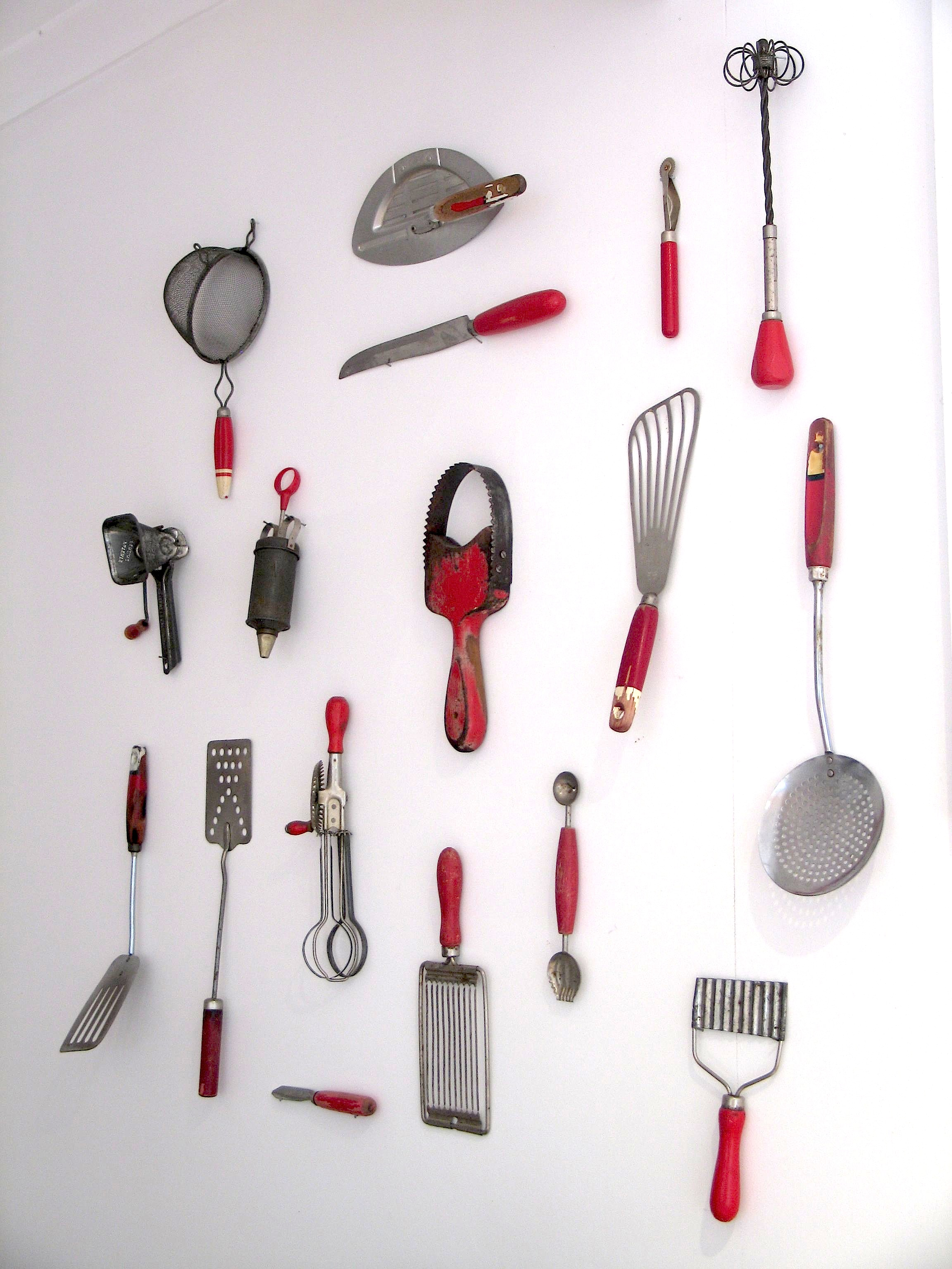 Kitchen Utensils Equipment ~ I have completed my kitchenalia wall collection of red