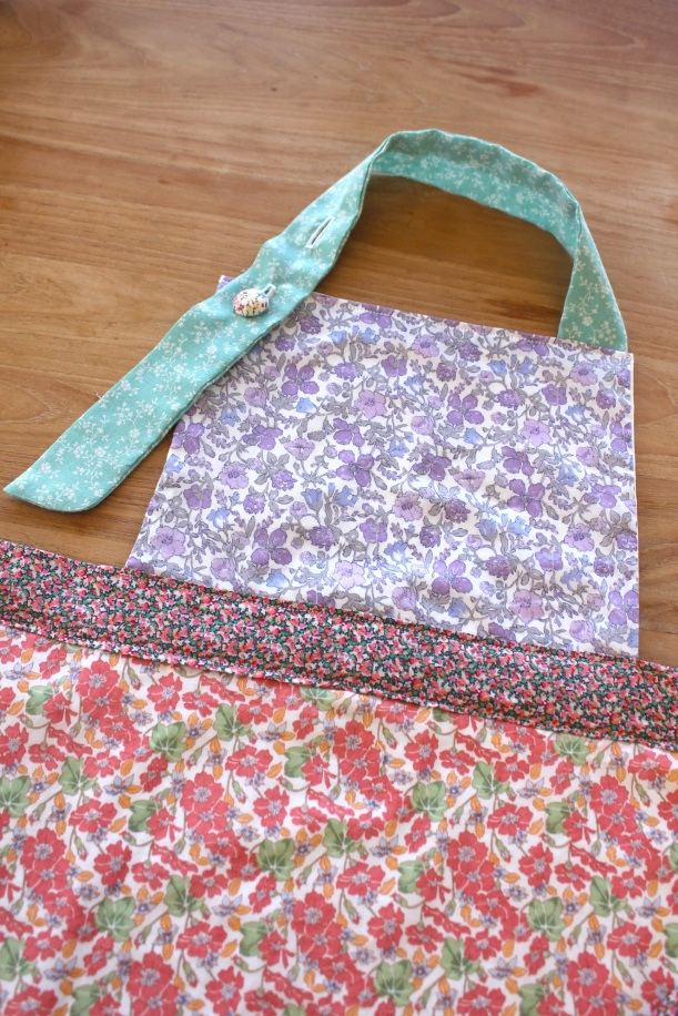 Kid's liberty fabric apron