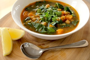 Tunisian lemon and chickpea soup
