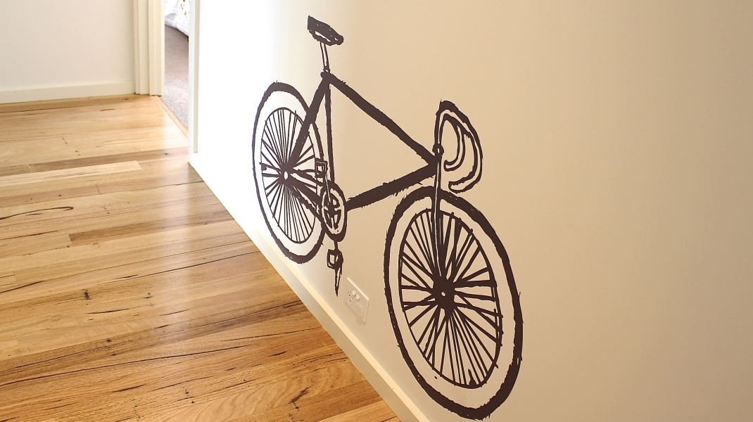 black vinyl sticker bicycle fixie