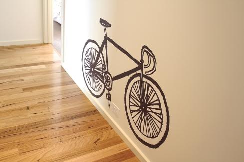black vinyl sticker bicycle fixie