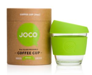 Joco reusuable glass cups christmas coffee tea