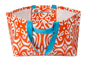 Project Ten colourful bags turquoise orange pattern