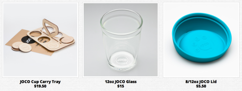 Joco cup accessories lid carry tray