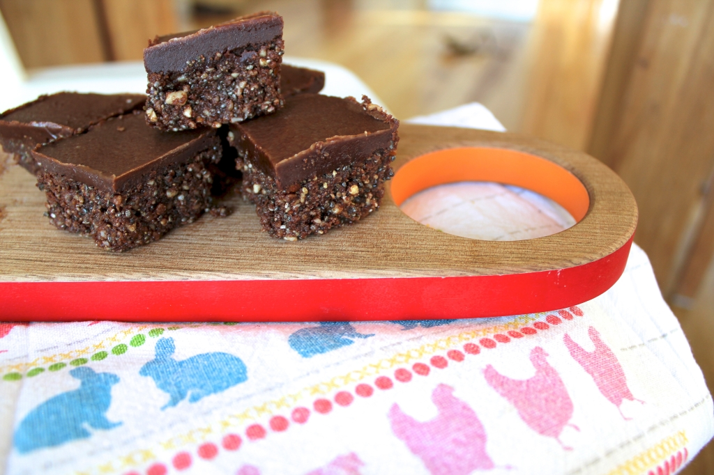 Hey Bernice Raw Chocolate slice almond cashew chia seeds sesame cocao coconut oil wholefoods healthy kids