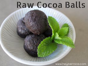 raw cocoa balls hey bernice cooking recipe healthy clean eating snack chocolate
