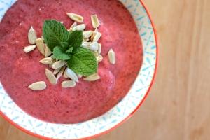 Raspberry Chia seed pudding healthy clean eating paleo raw food recipe cooking breaky breakfast sweet fruit berry berries